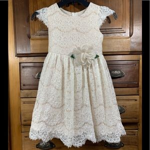 Rare Editions Girl's Lace Dress with Sequins